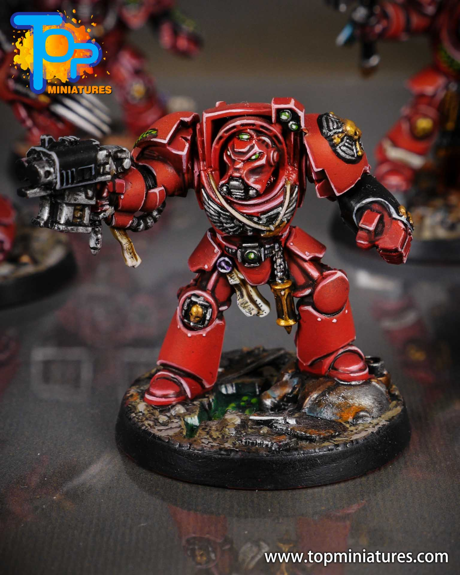 Space Marine Heroes - Blood Angels Terminators (12)