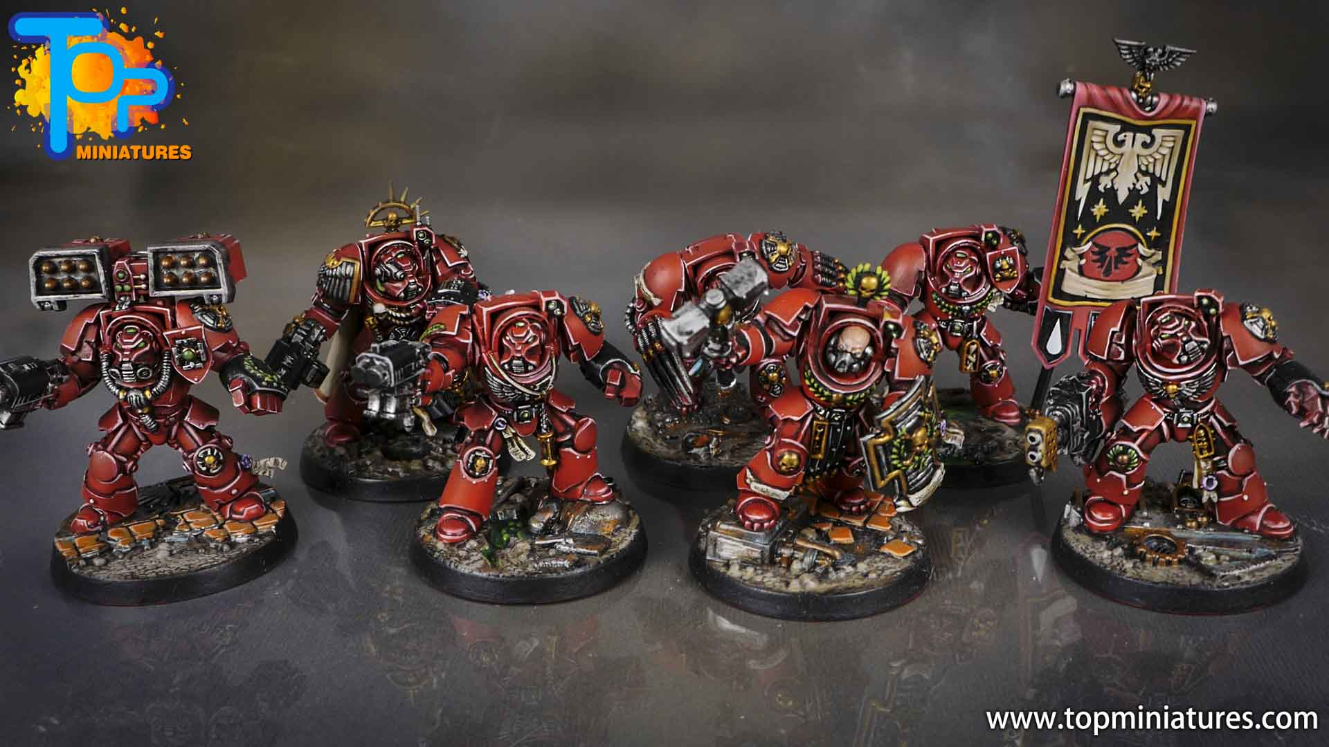Space Marine Heroes - Blood Angels Terminators (16)