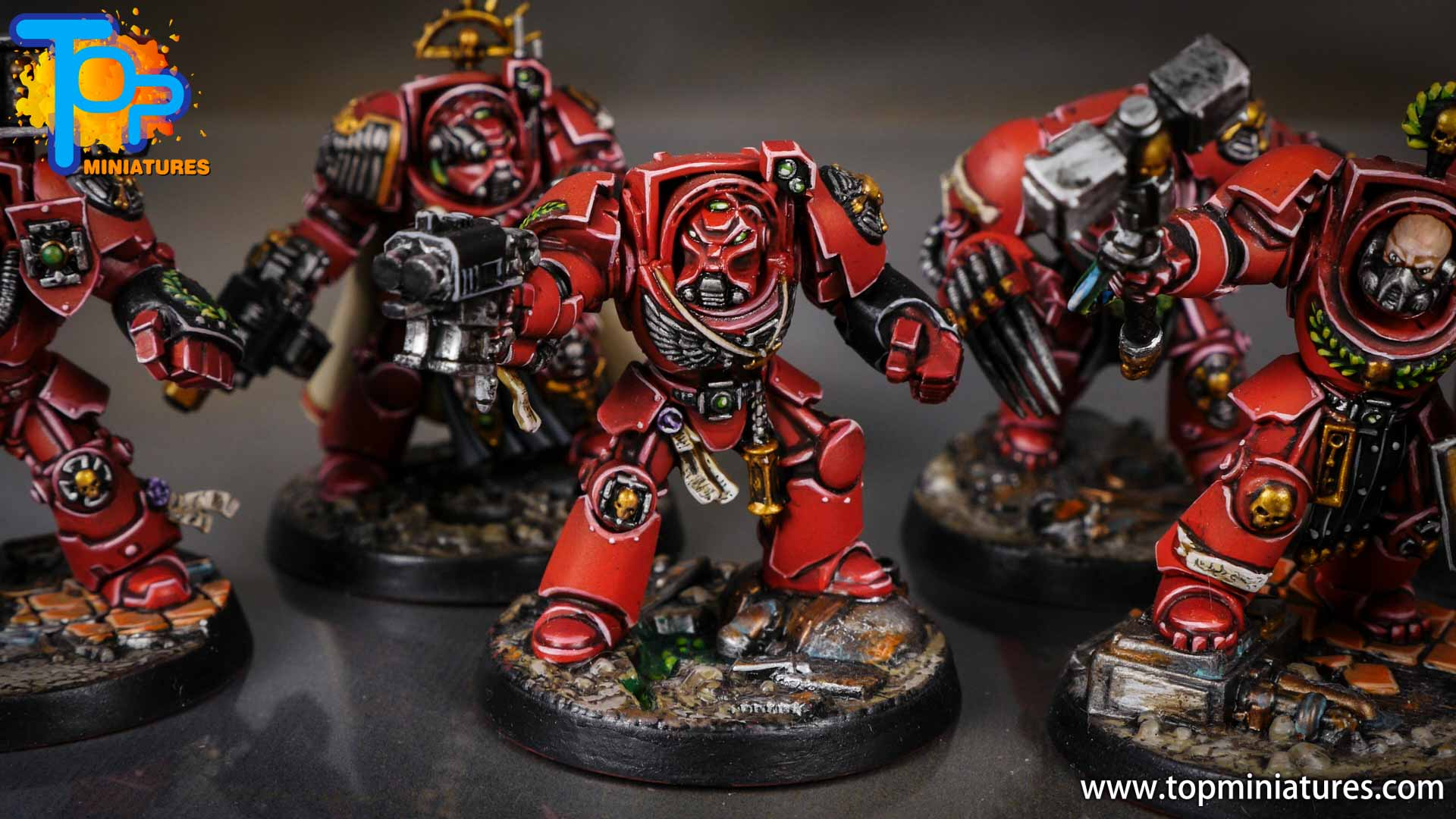 Space Marine Heroes - Blood Angels Terminators (18)