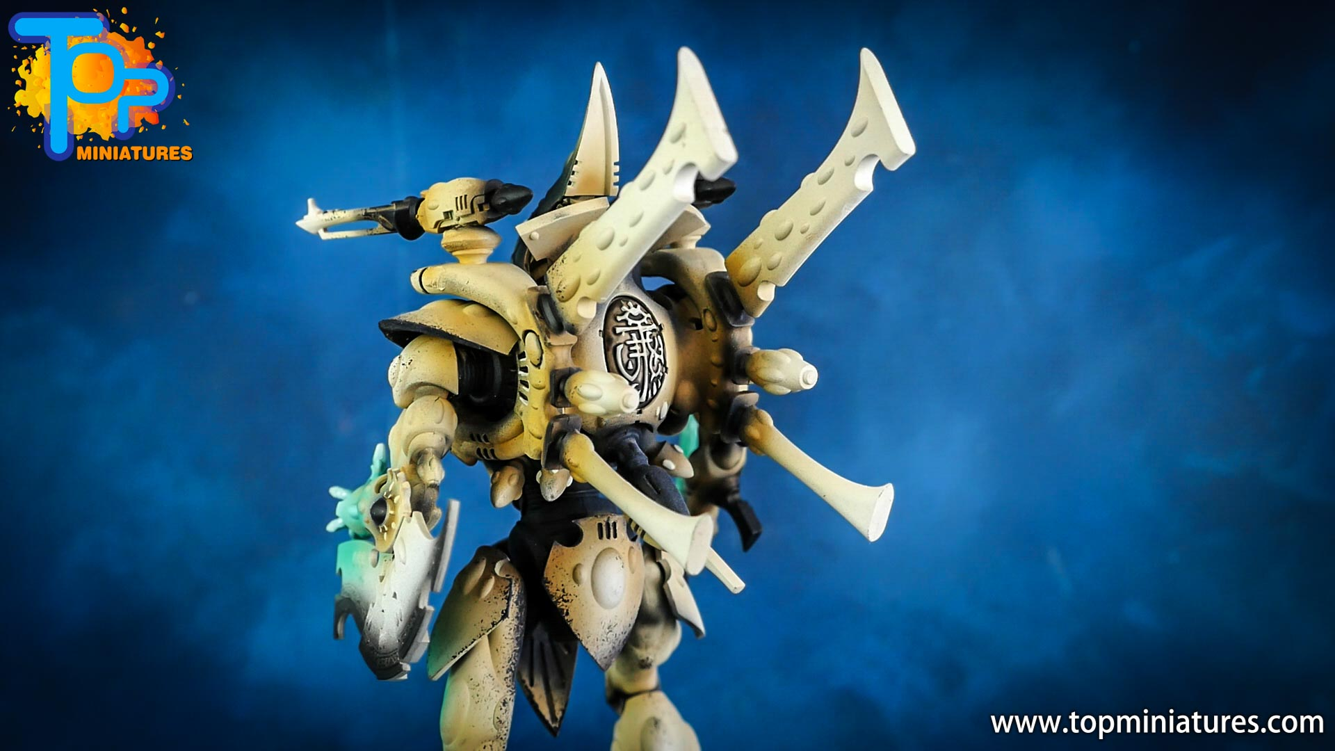 aeldari painted white wraithknight (9)