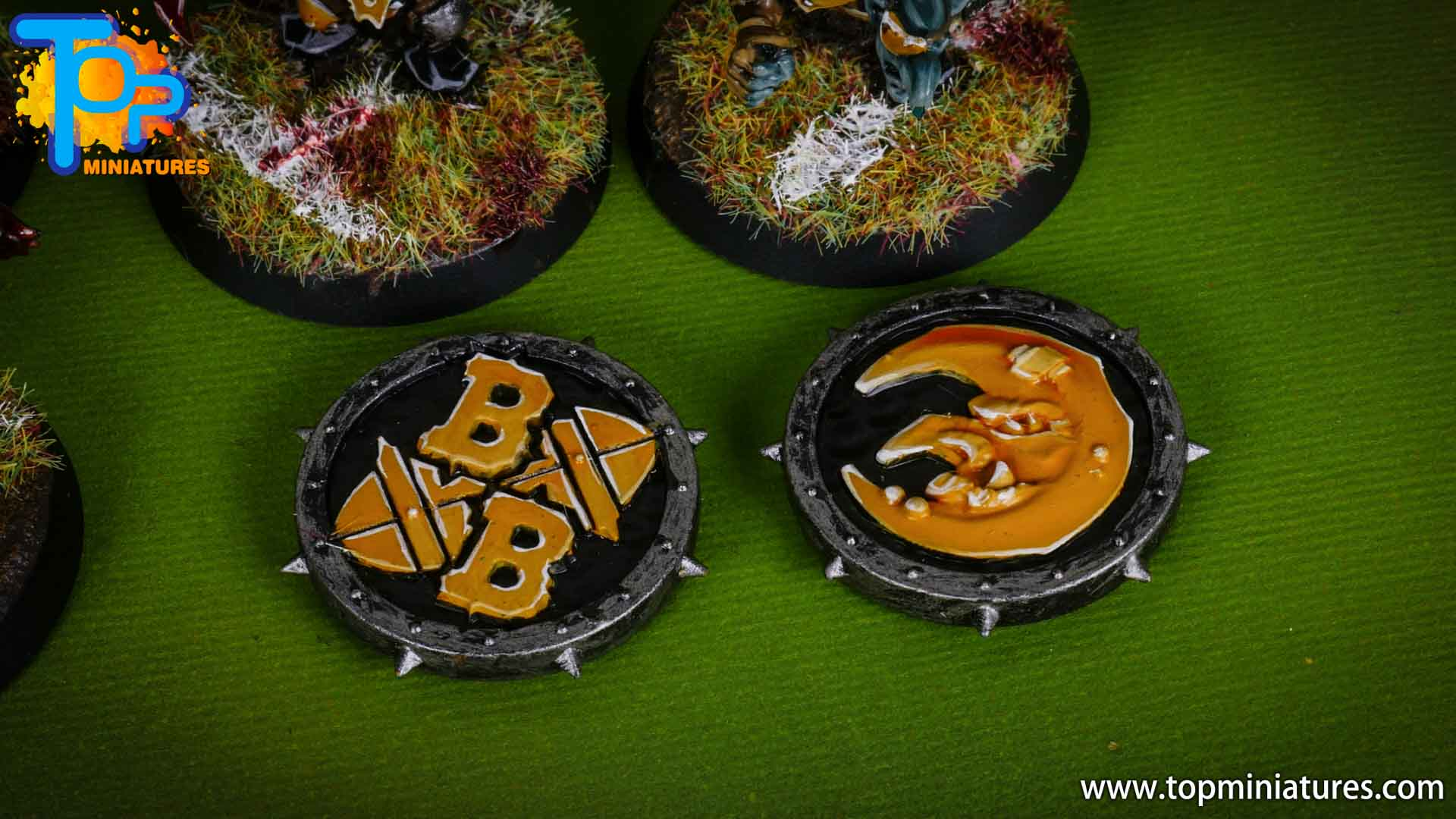blood bowl painted balls & tokens