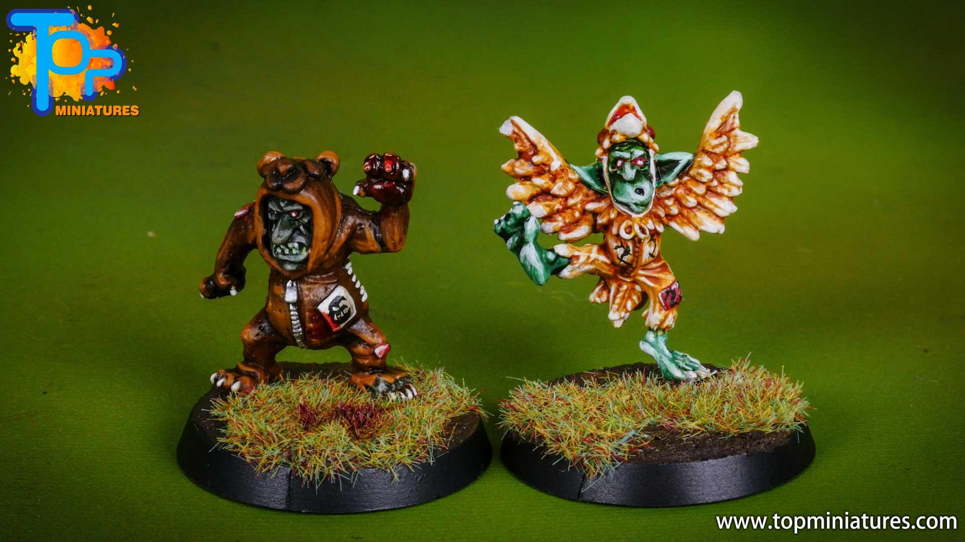 blood bowl painted goblin team (2)