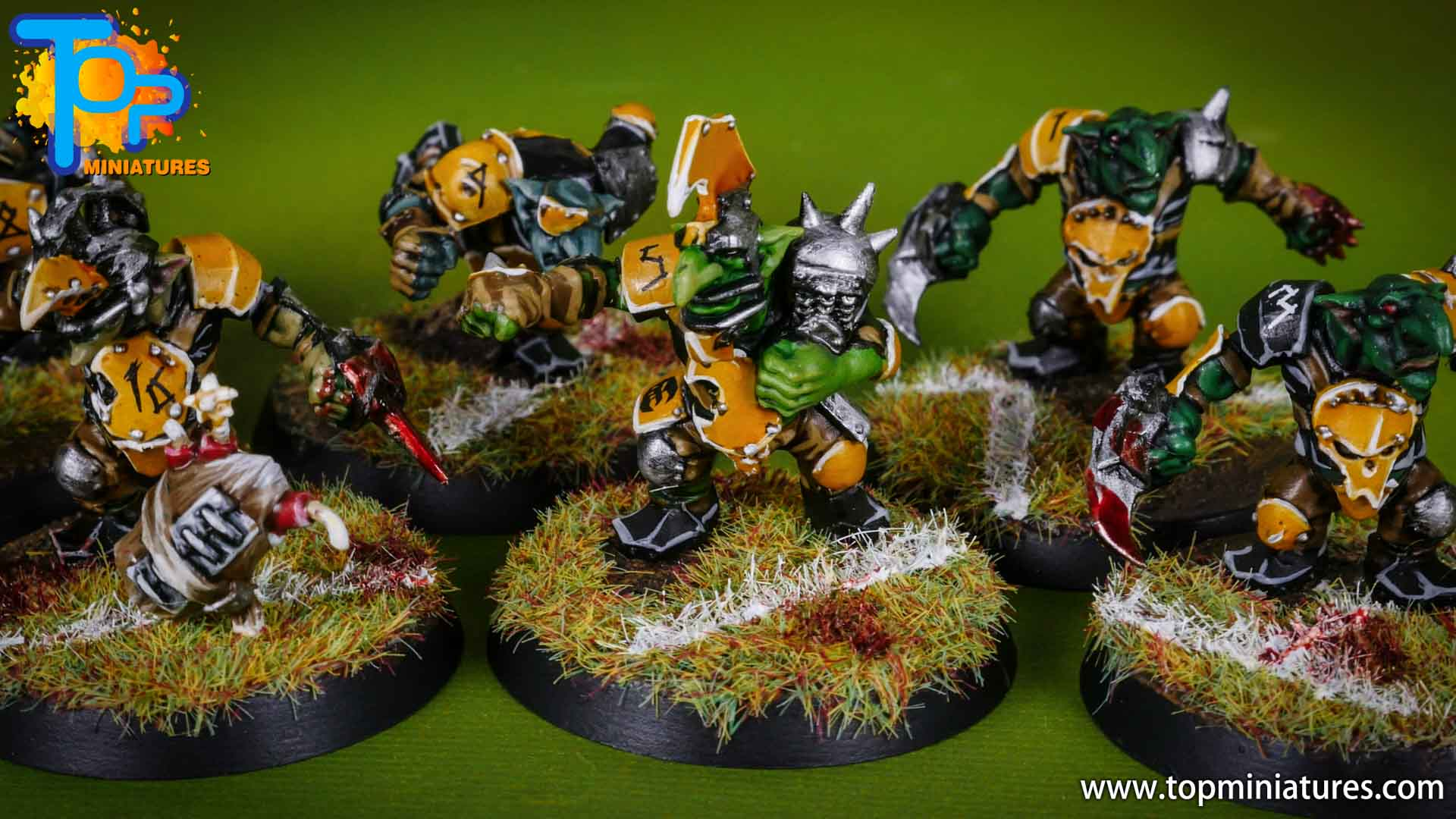 blood bowl painted scarcrag snivellers (8)