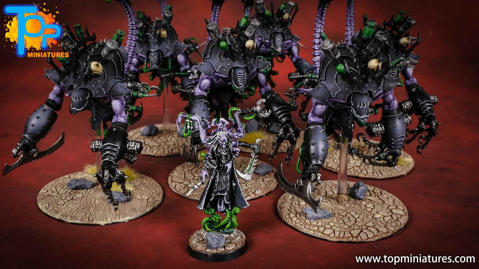 dark eldars painted army black