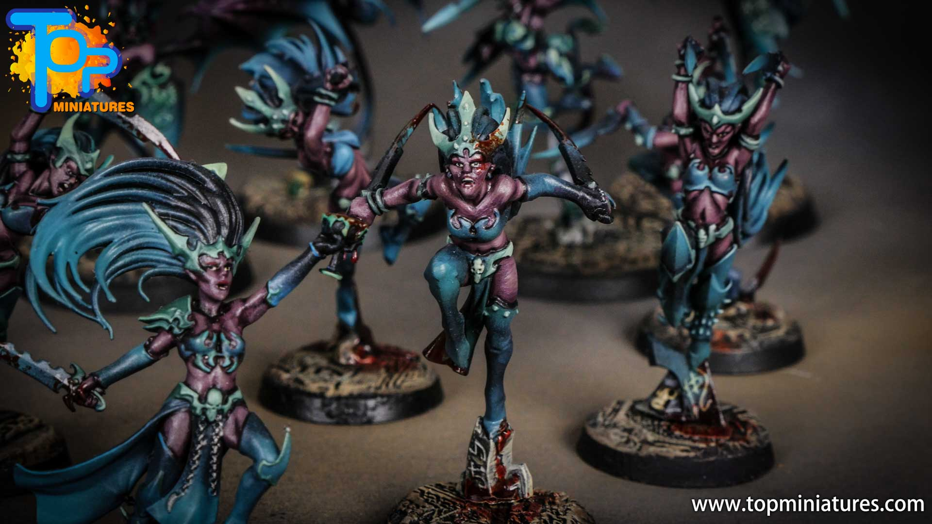 daughters of khaine painted witch aelfs (4)