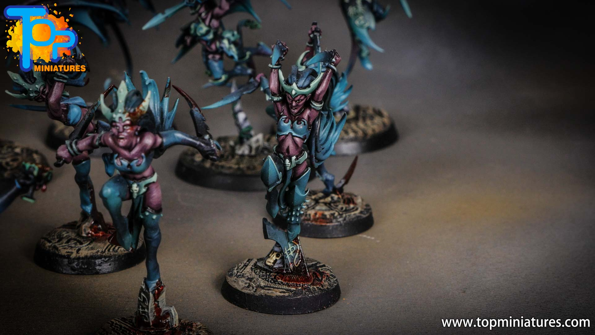 daughters of khaine painted witch aelfs (5)