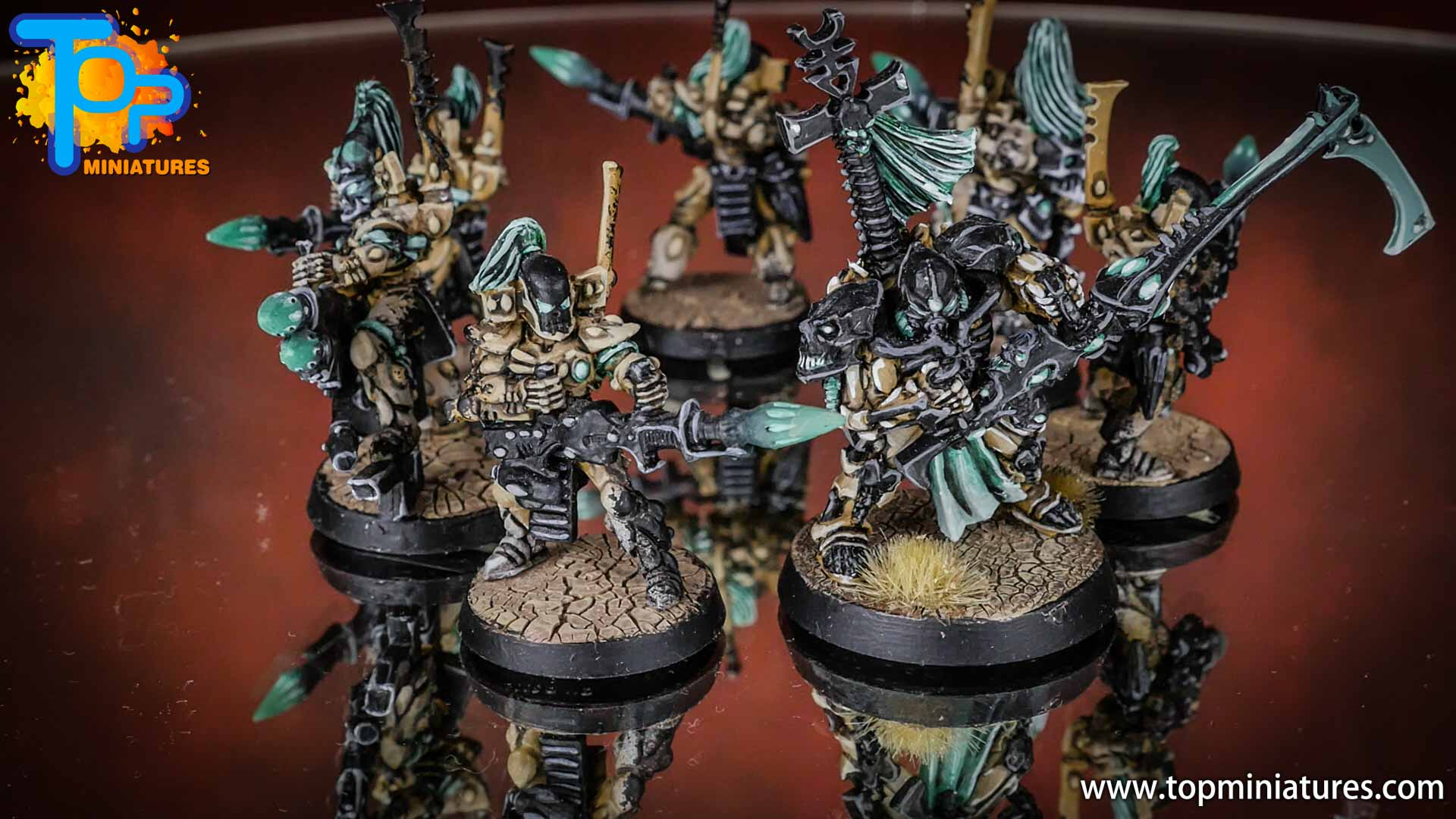 eldar painted dark reapers (2)