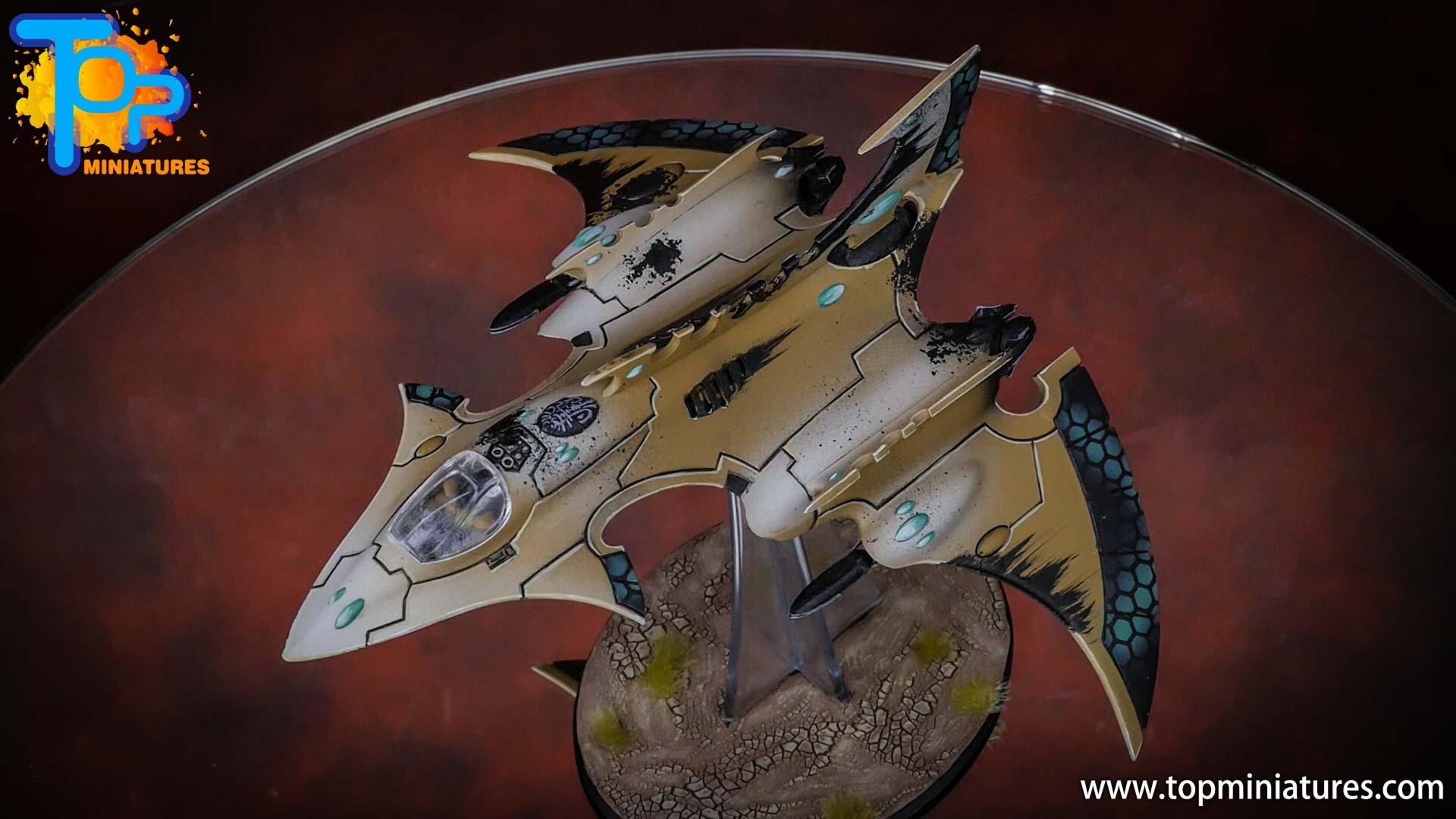 eldar painted hemlock wraithfighter (1)