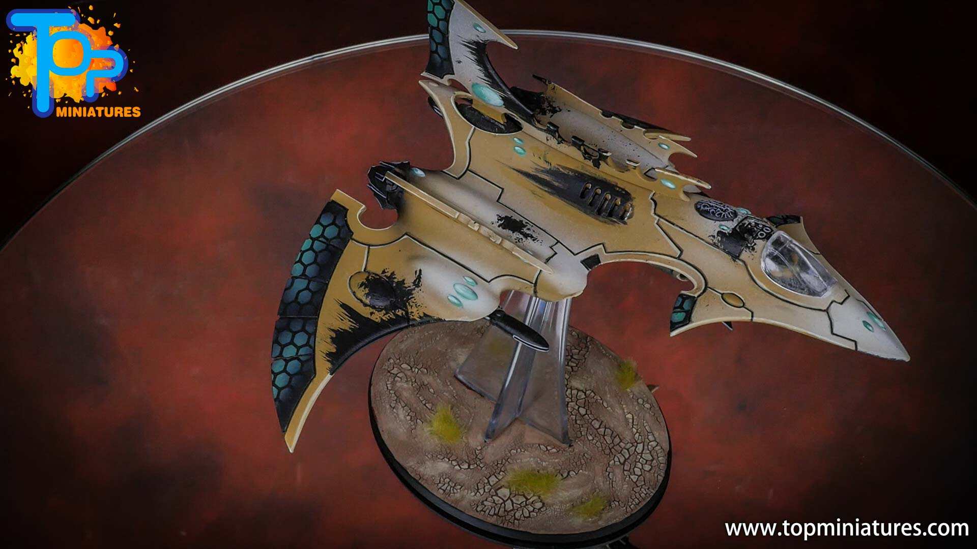 eldar painted hemlock wraithfighter (2)