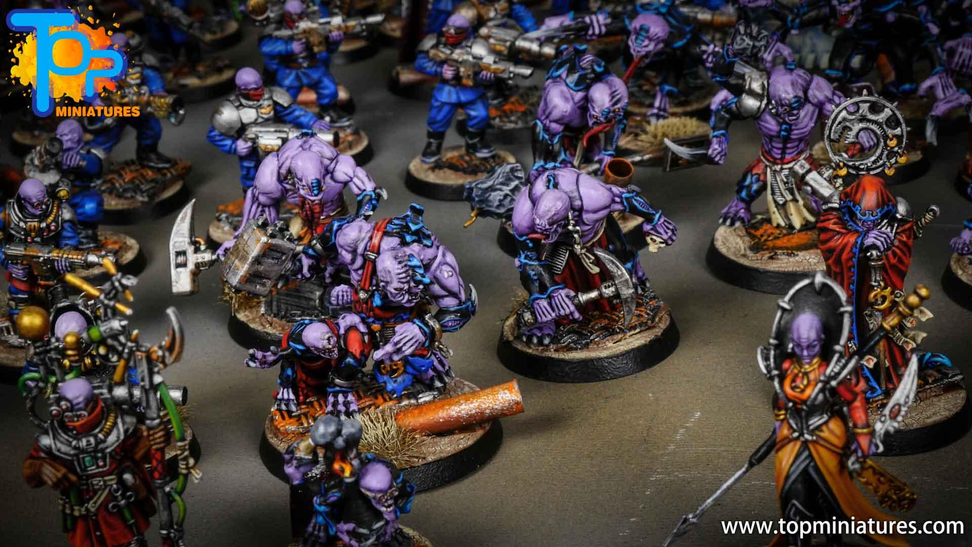 genestealer cults huge painted army (1)