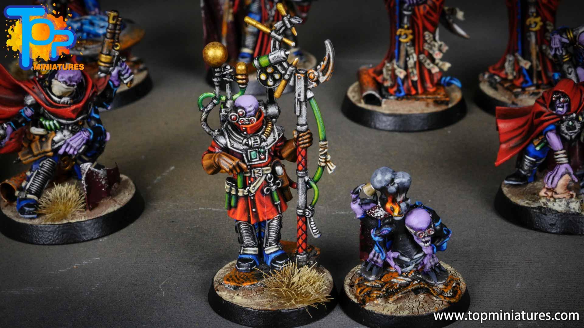 genestealer cults painted biophagus & familiar (1)