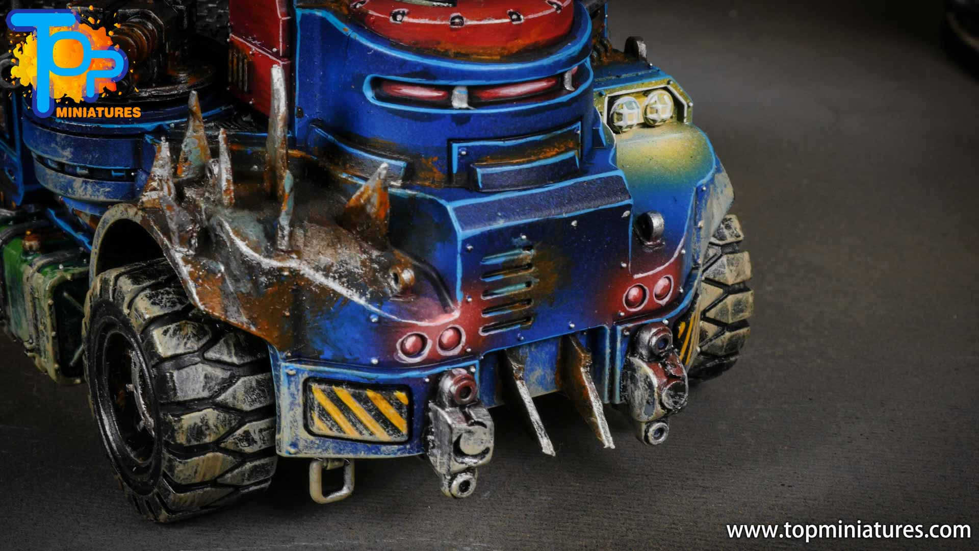 genestealer cults painted goliath truck (3)