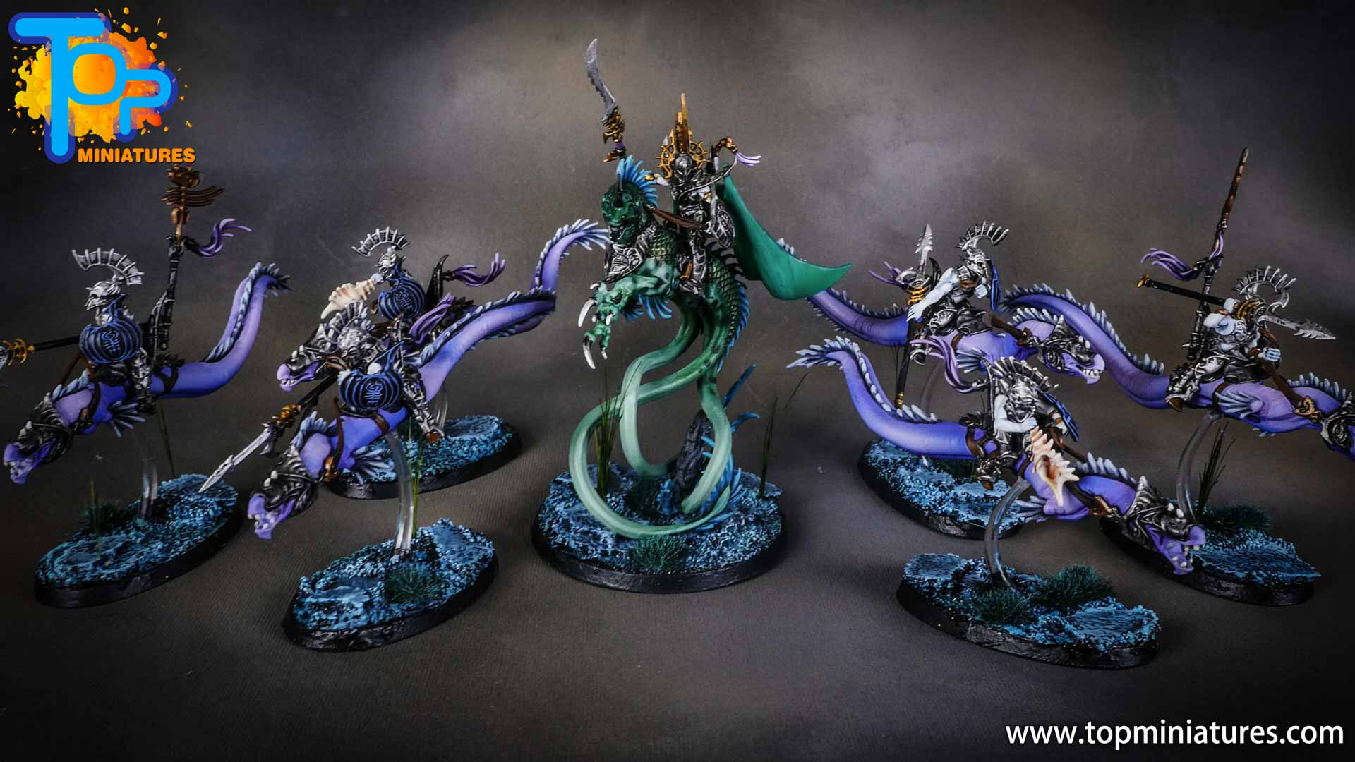 idoneth deepkin painted army (2)