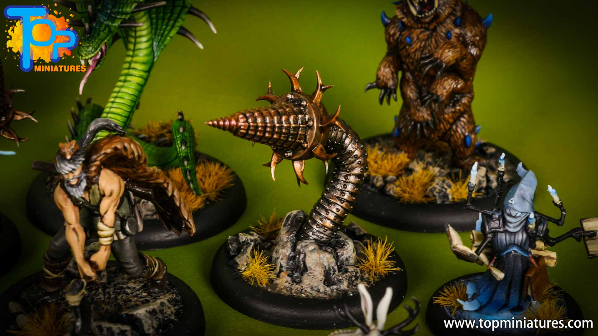 malifaux painted arcanists Soulstone Miners (2)