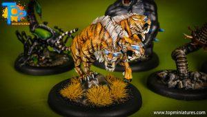 malifaux painted arcanists sabertooth cerberus (1)