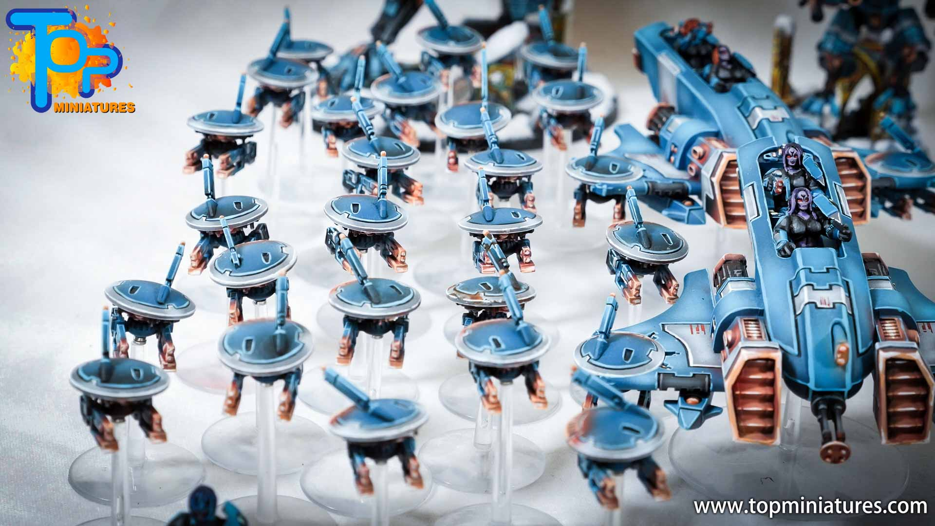 spikeybits tau empire painted army (1)