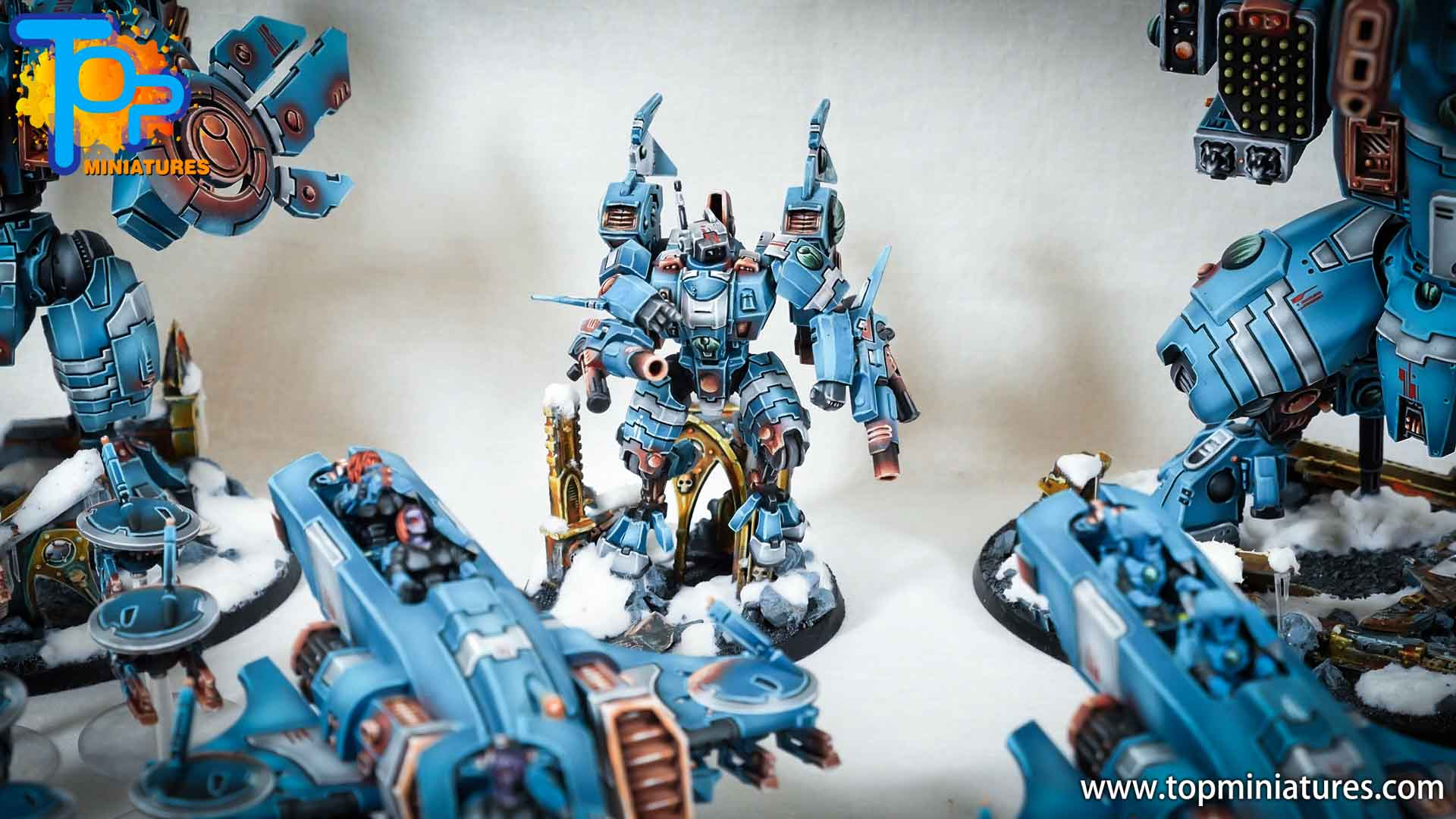 spikeybits tau empire painted army (12)