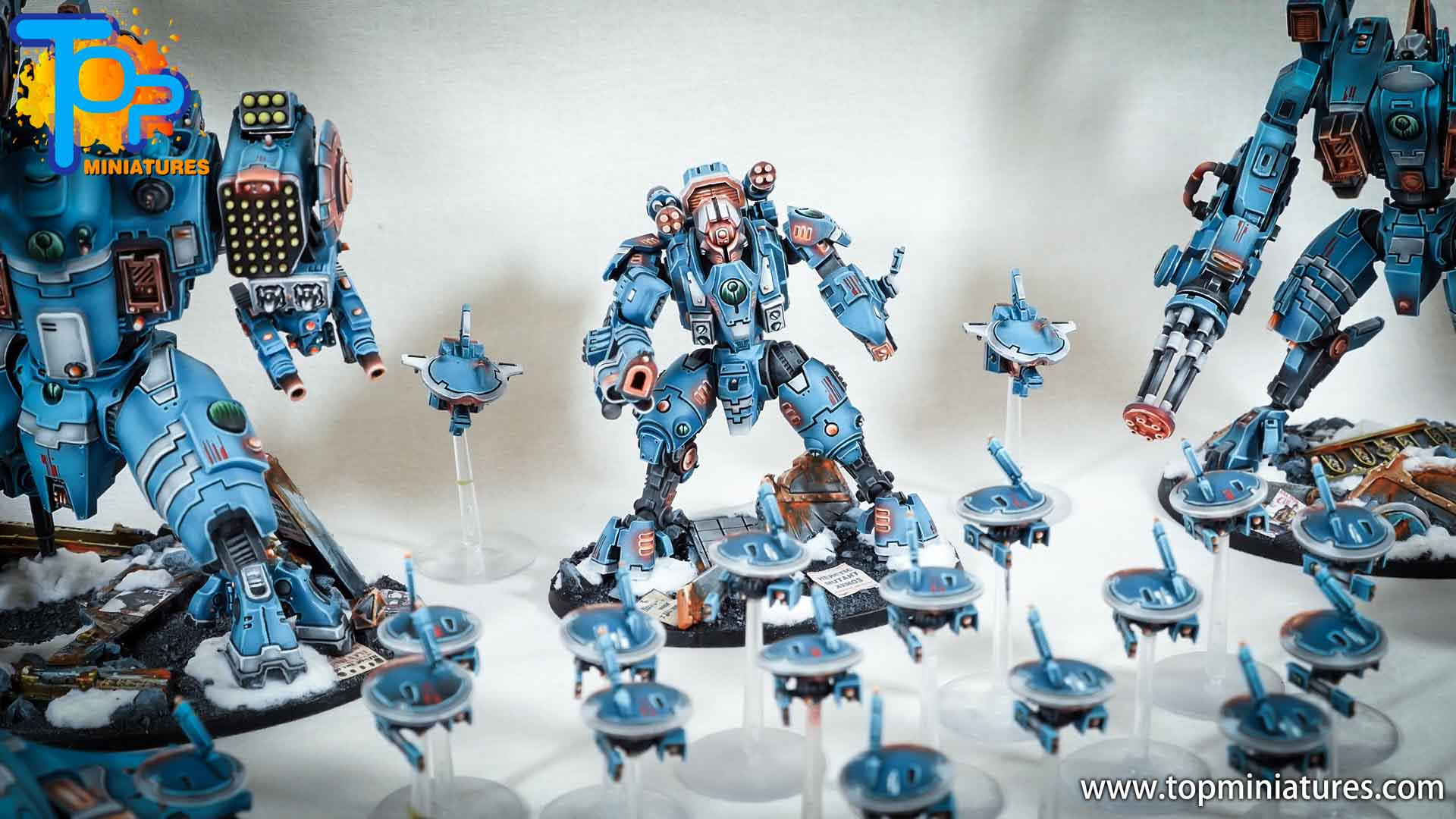 spikeybits tau empire painted army (13)
