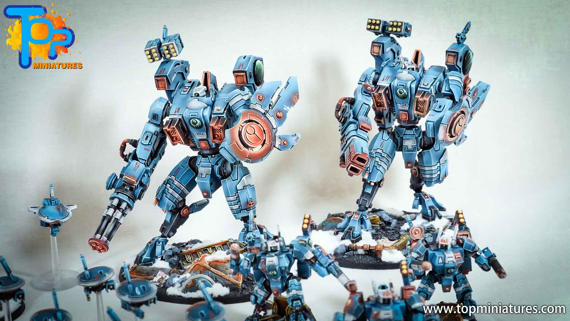 spikeybits tau empire painted army (14)