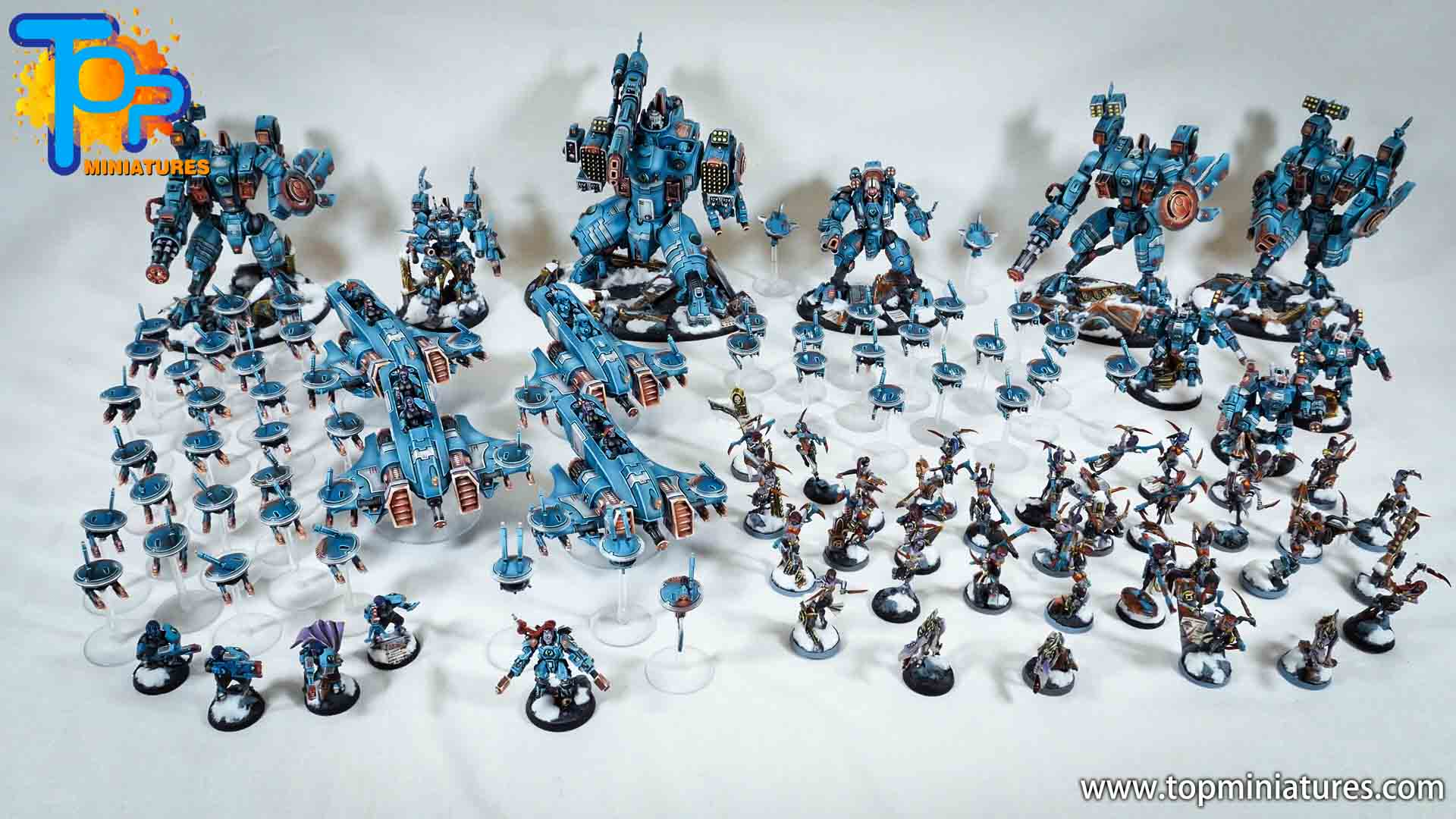 spikeybits tau empire painted army (2)