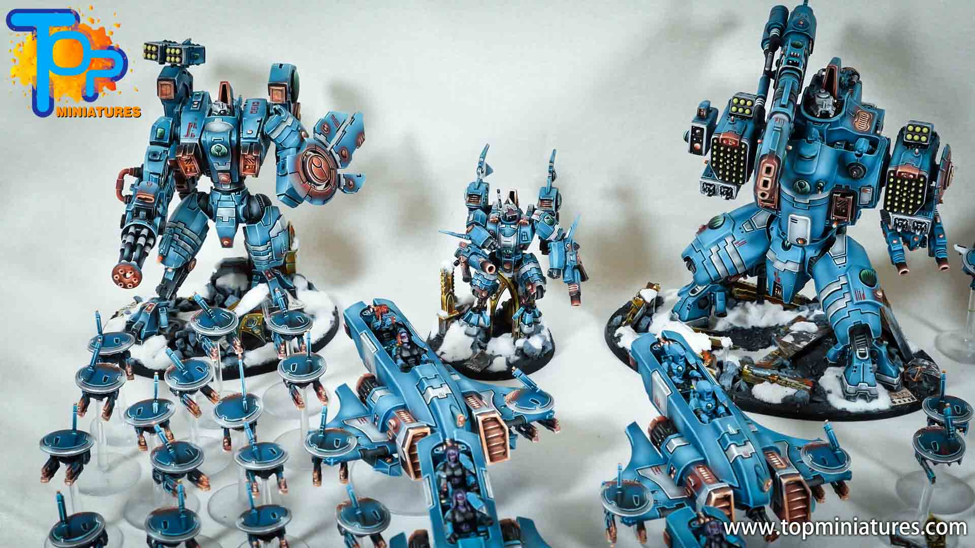 spikeybits tau empire painted army (3)