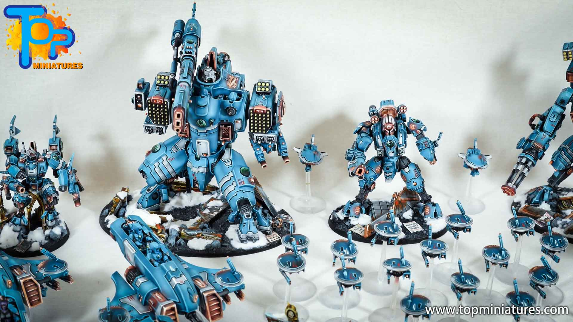 spikeybits tau empire painted army (4)