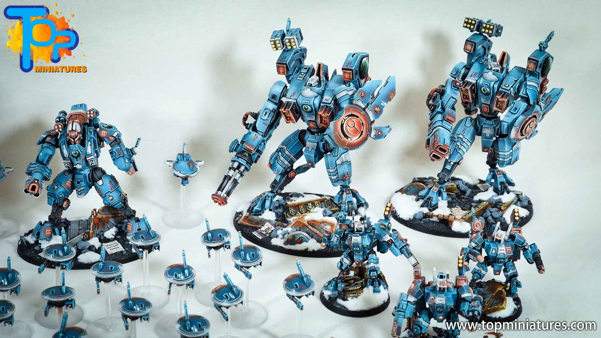 spikeybits tau empire painted army (5)