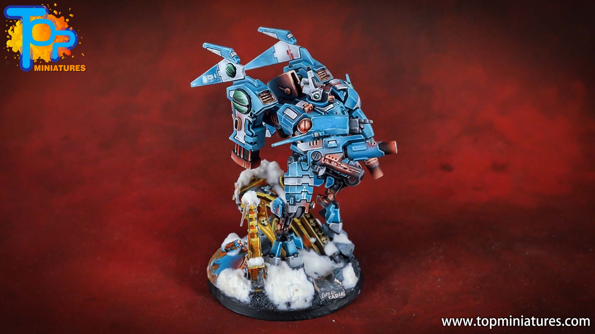 spikeybits tau empire painted commander (6)