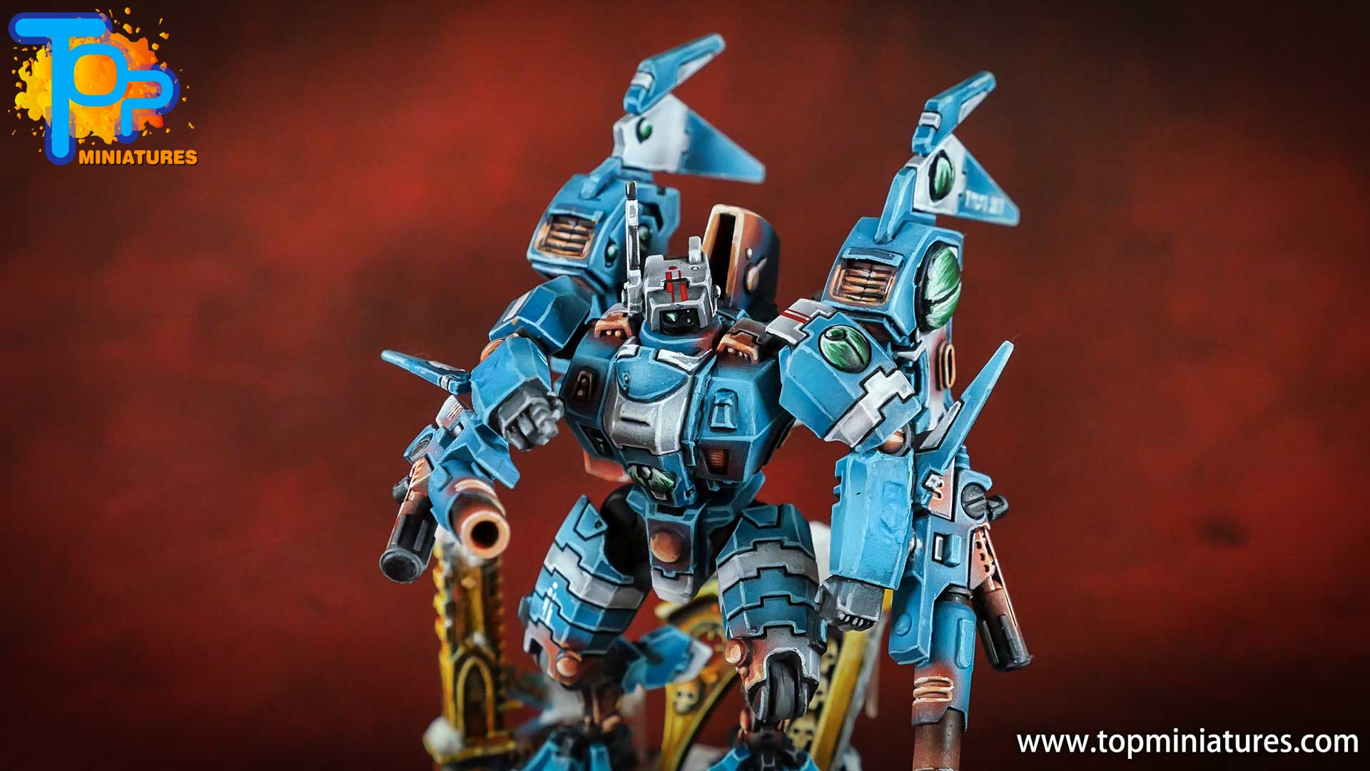 spikeybits tau empire painted commander (7)