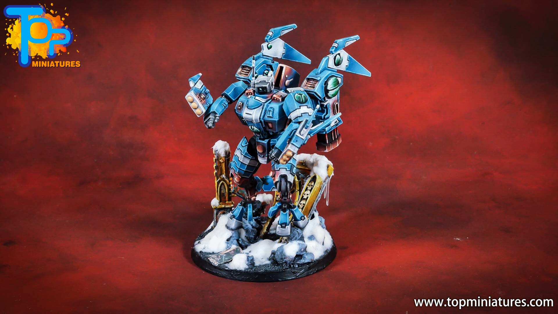spikeybits tau empire painted commander (8)