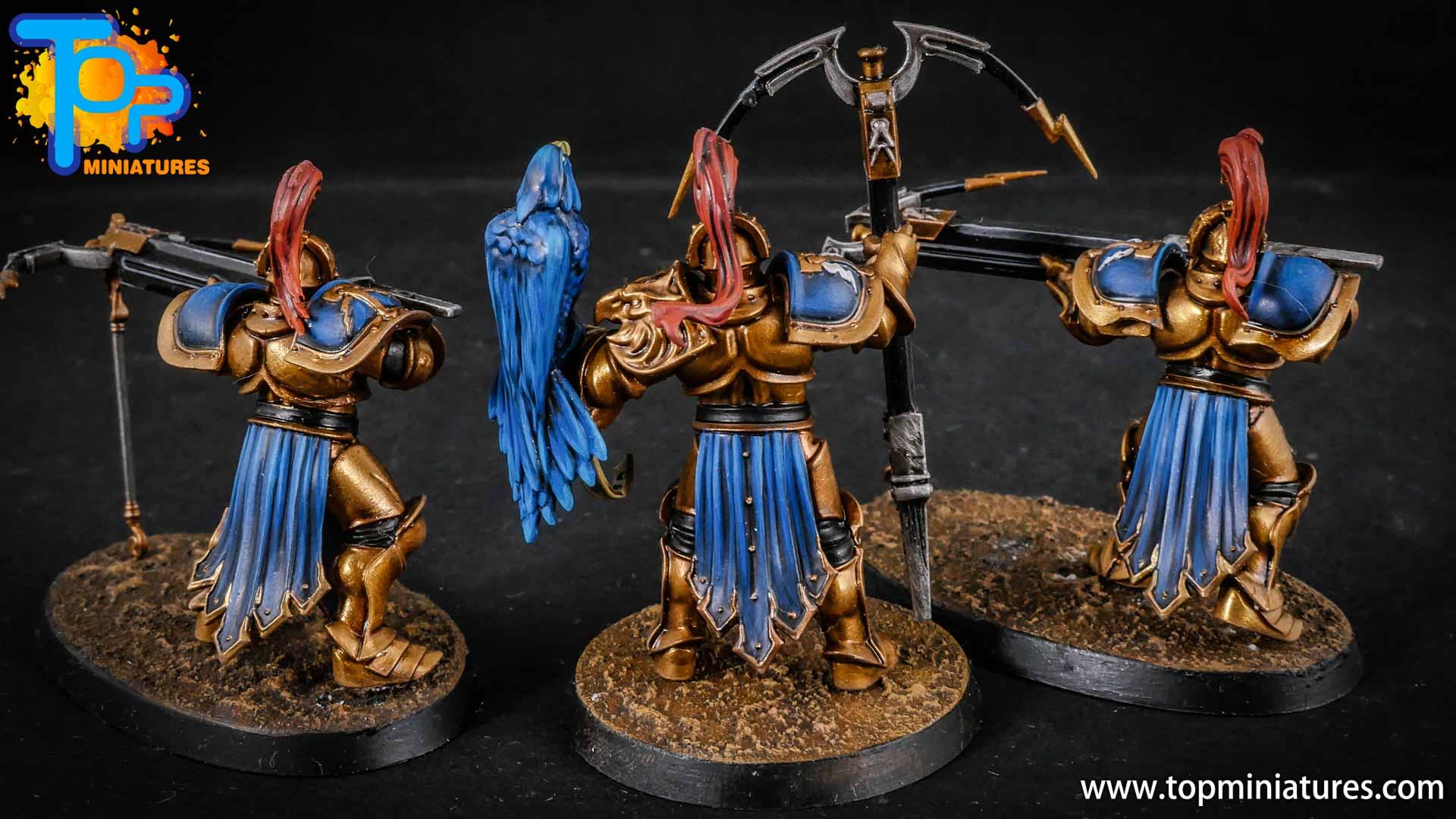 stormcast eternals painted vanguard raptors hunters (2)