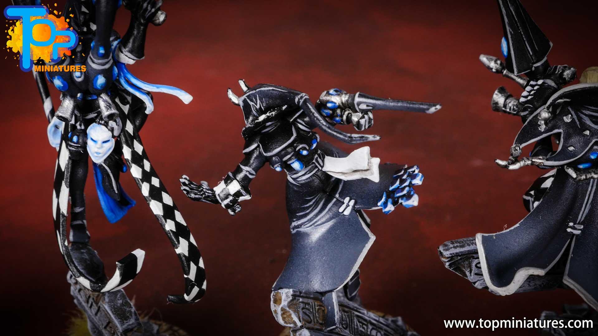 warhammer 40k harlequins black & white solitaire (2)