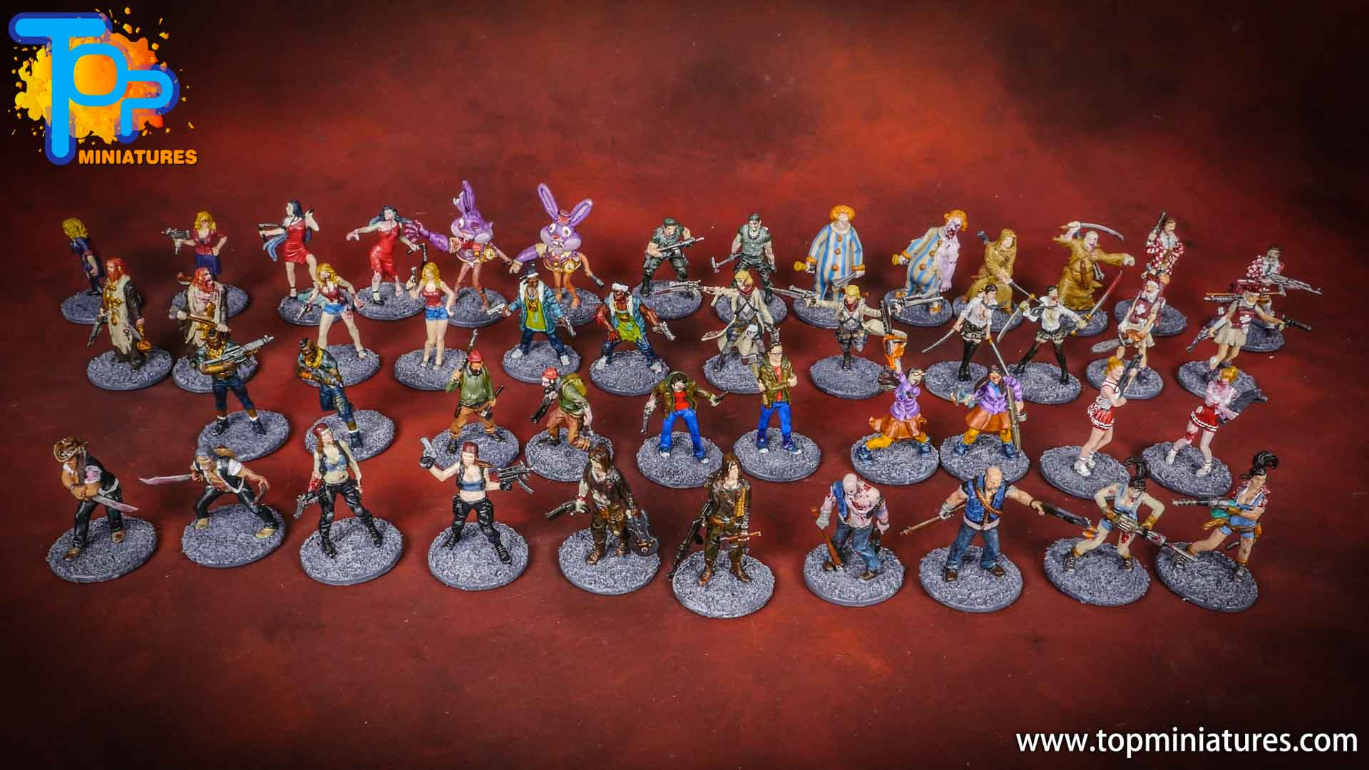 zombicide special guest painted miniatures