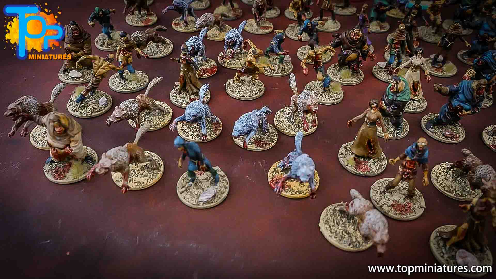 zombicide wulfsburg painted walkers