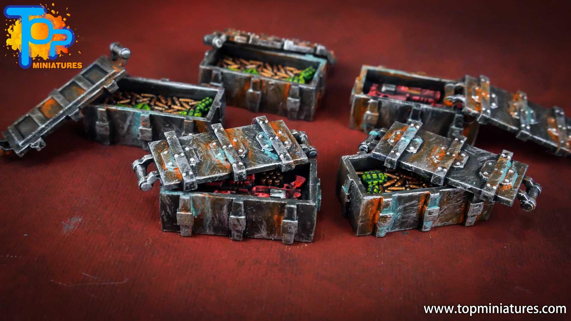 Necromunda painted ammo crates