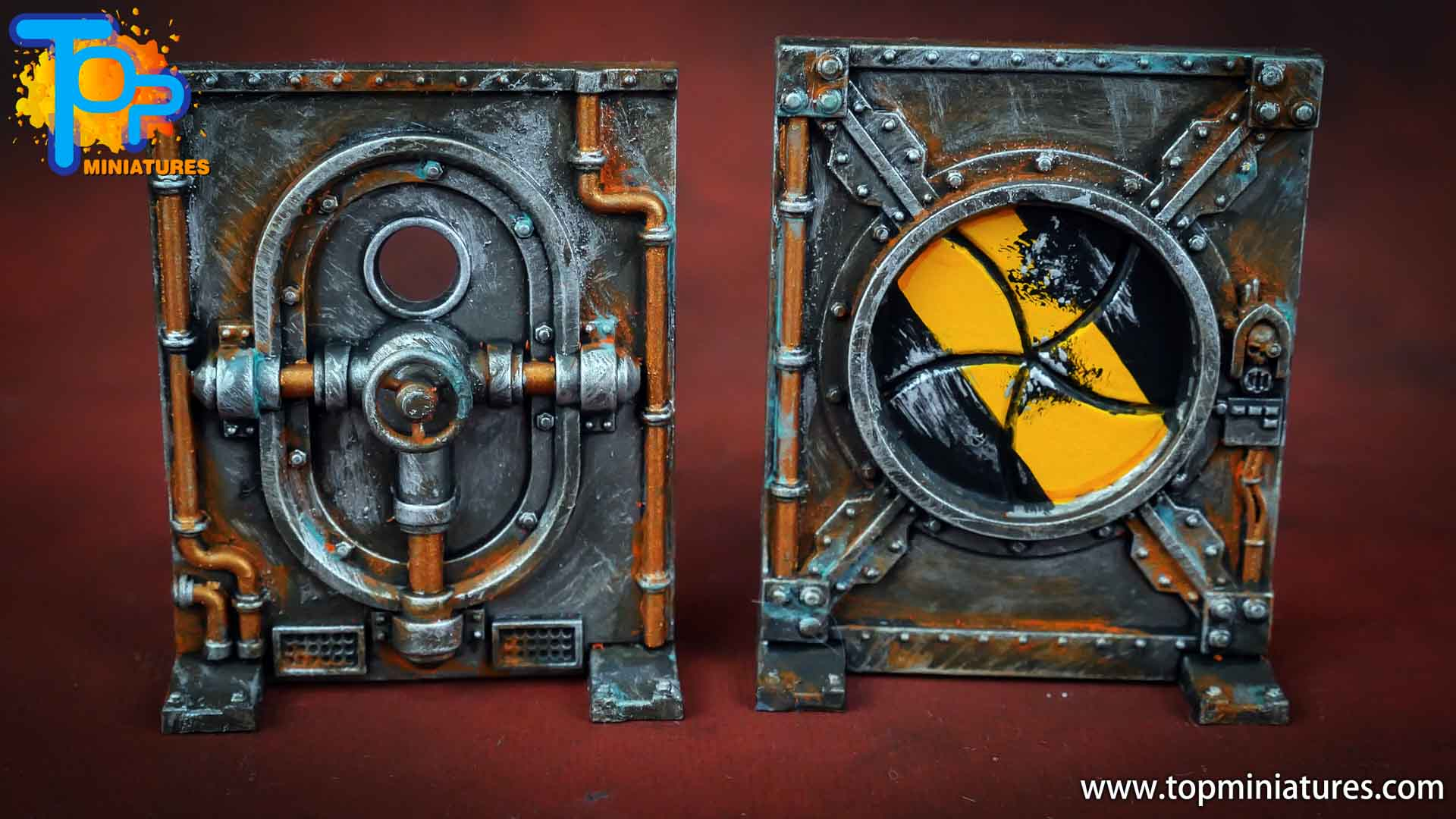 Necromunda painted rusted old terrain pieces (10)