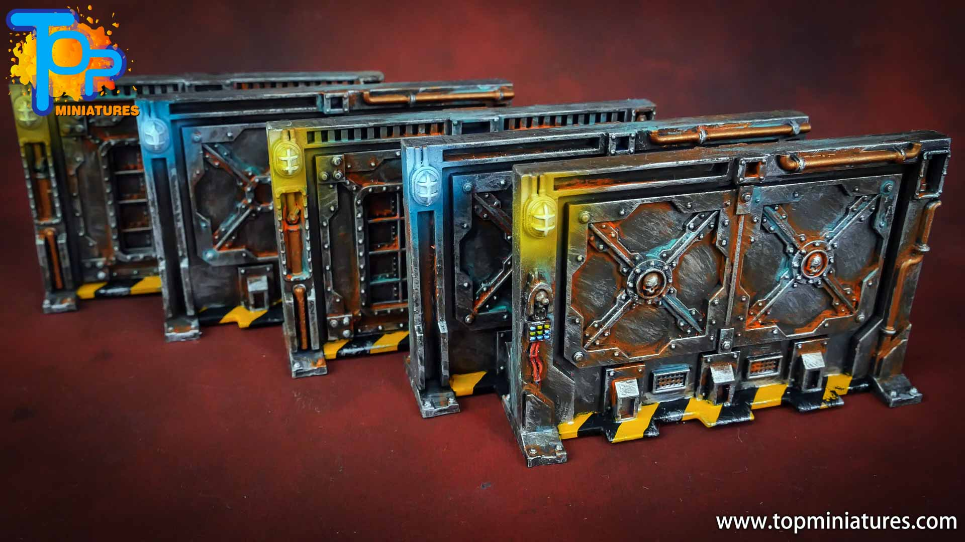 Necromunda painted rusted old terrain pieces (11)