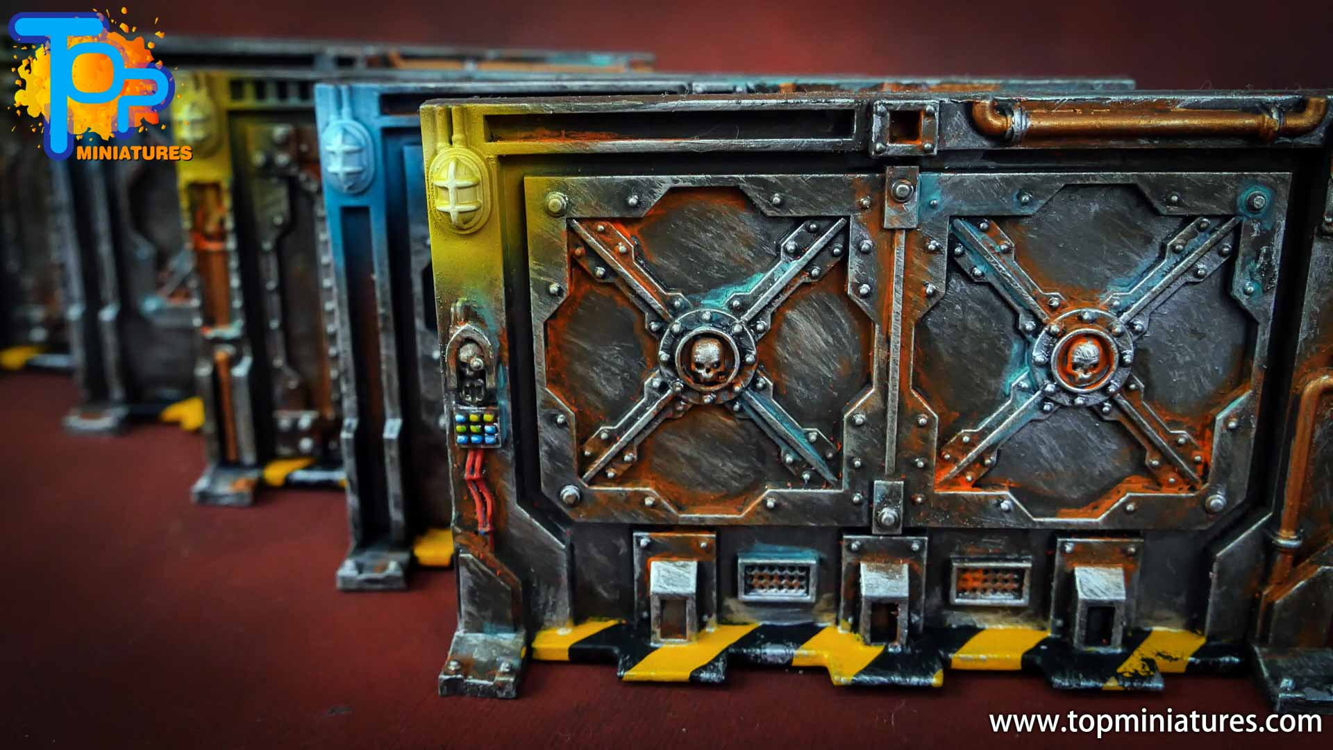Necromunda painted rusted old terrain pieces (12)