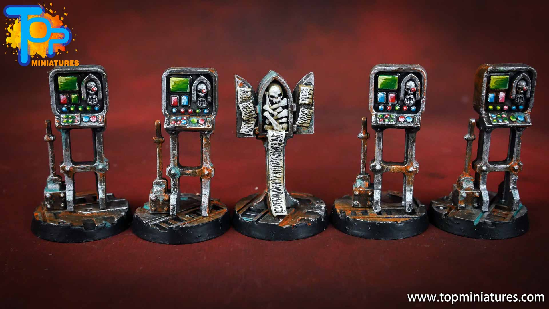 Necromunda painted rusted old terrain pieces (14)