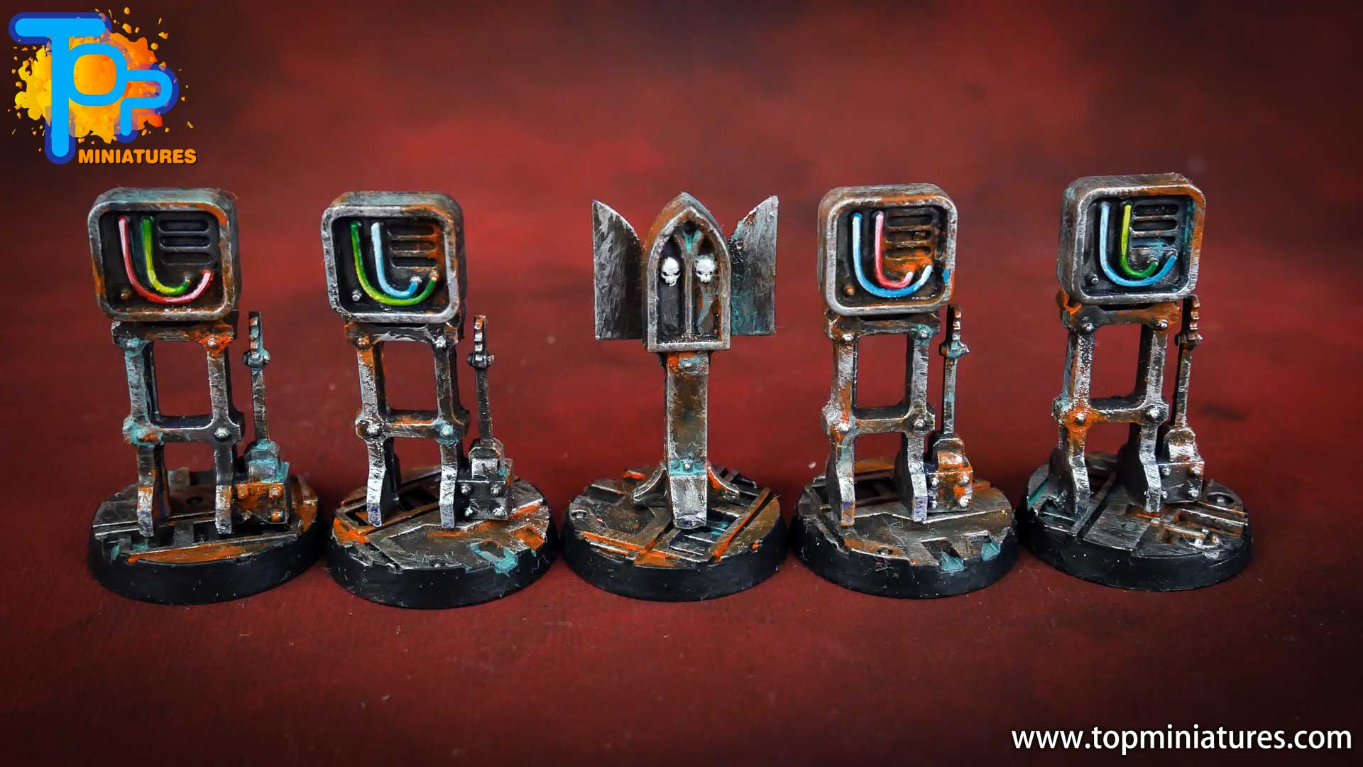 Necromunda painted rusted old terrain pieces (16)