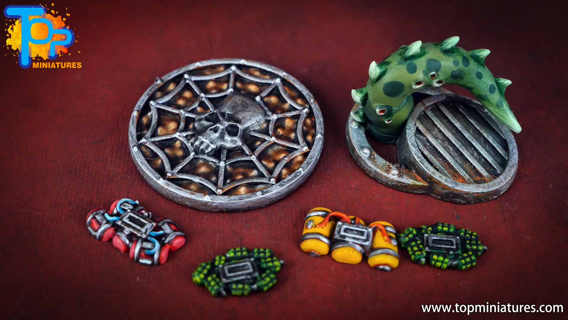 Necromunda painted rusted old terrain pieces (19)