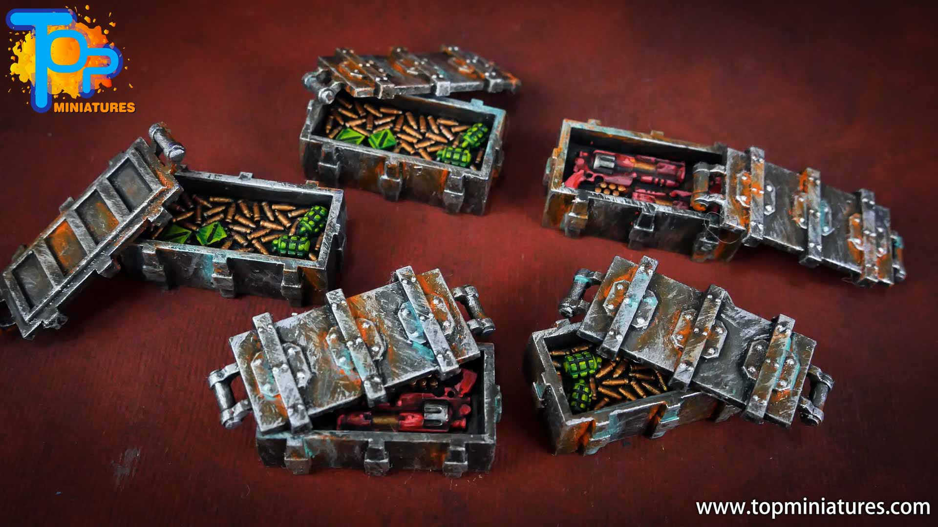Necromunda painted rusted old terrain pieces (20)