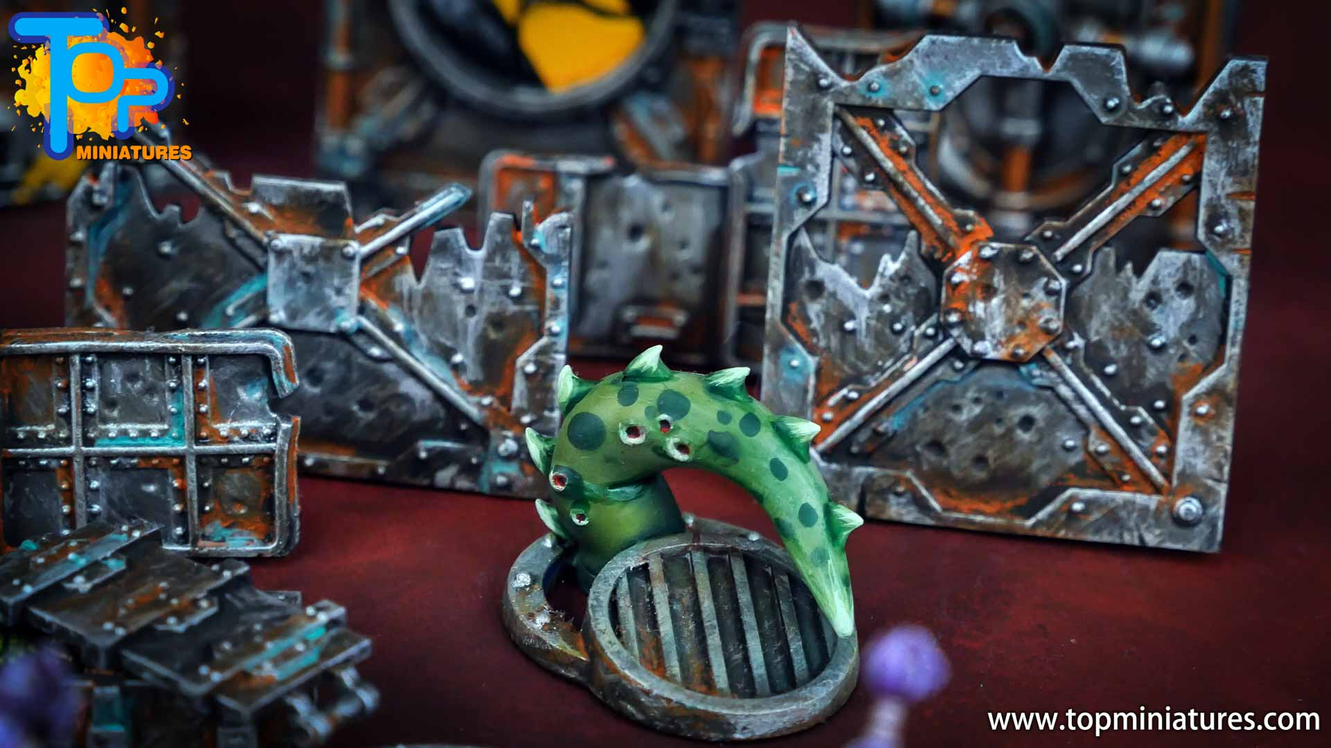 Necromunda painted rusted old terrain pieces (23)