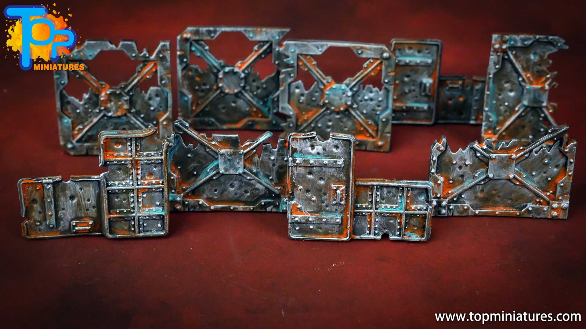 Necromunda painted rusted old terrain pieces (5)