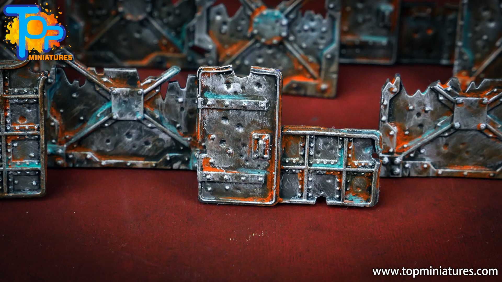 Necromunda painted rusted old terrain pieces (6)