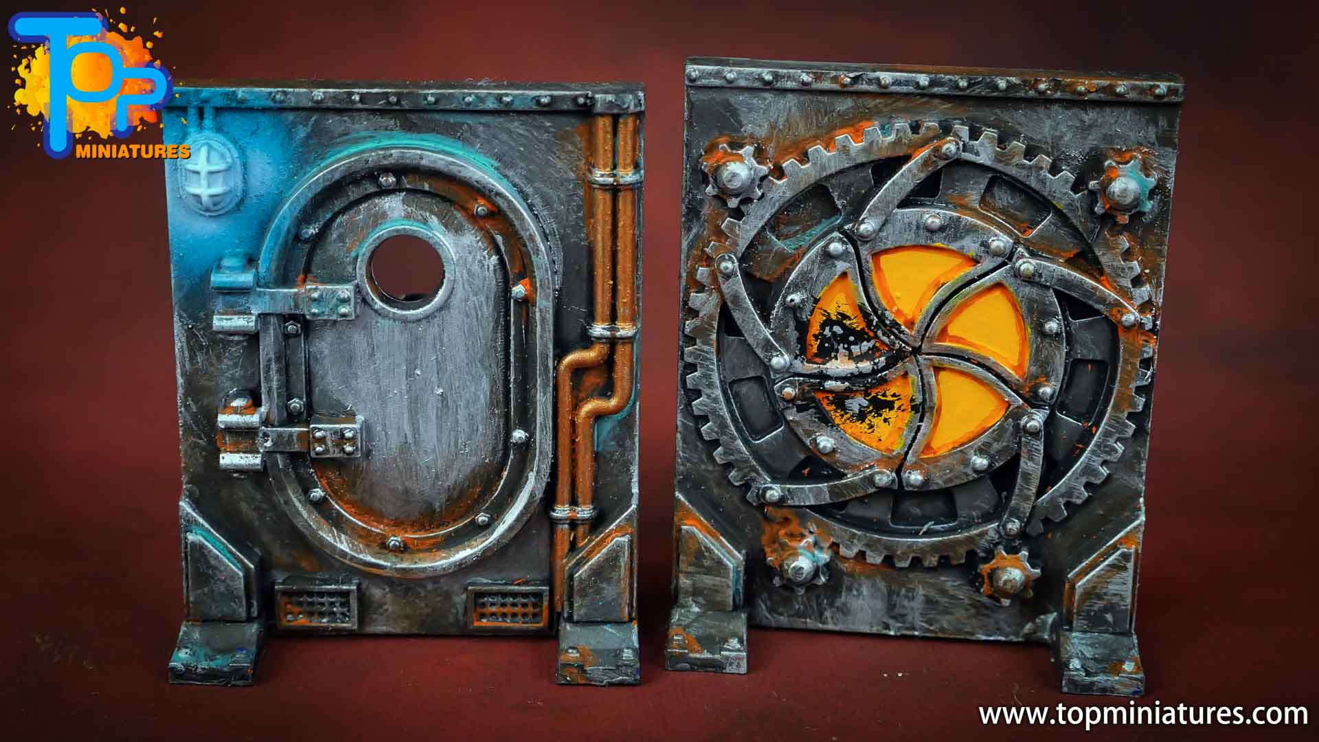 Necromunda painted rusted old terrain pieces (9)