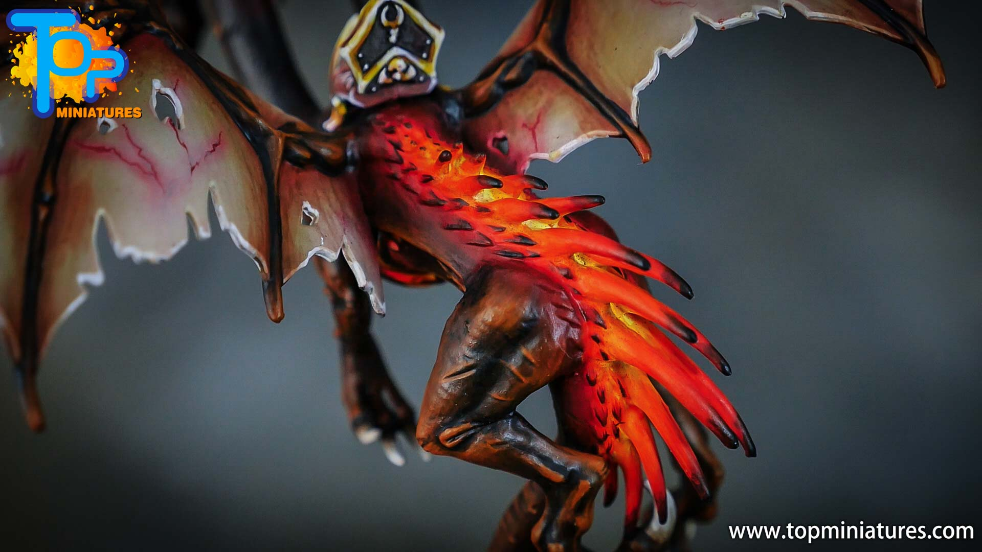 age of sigmar painted chaos dragon (7)