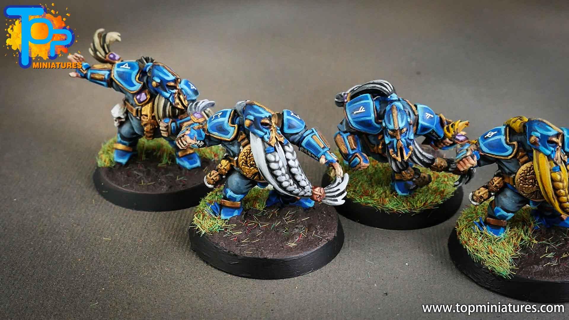 blood bowl, painted dwarfs team (4)