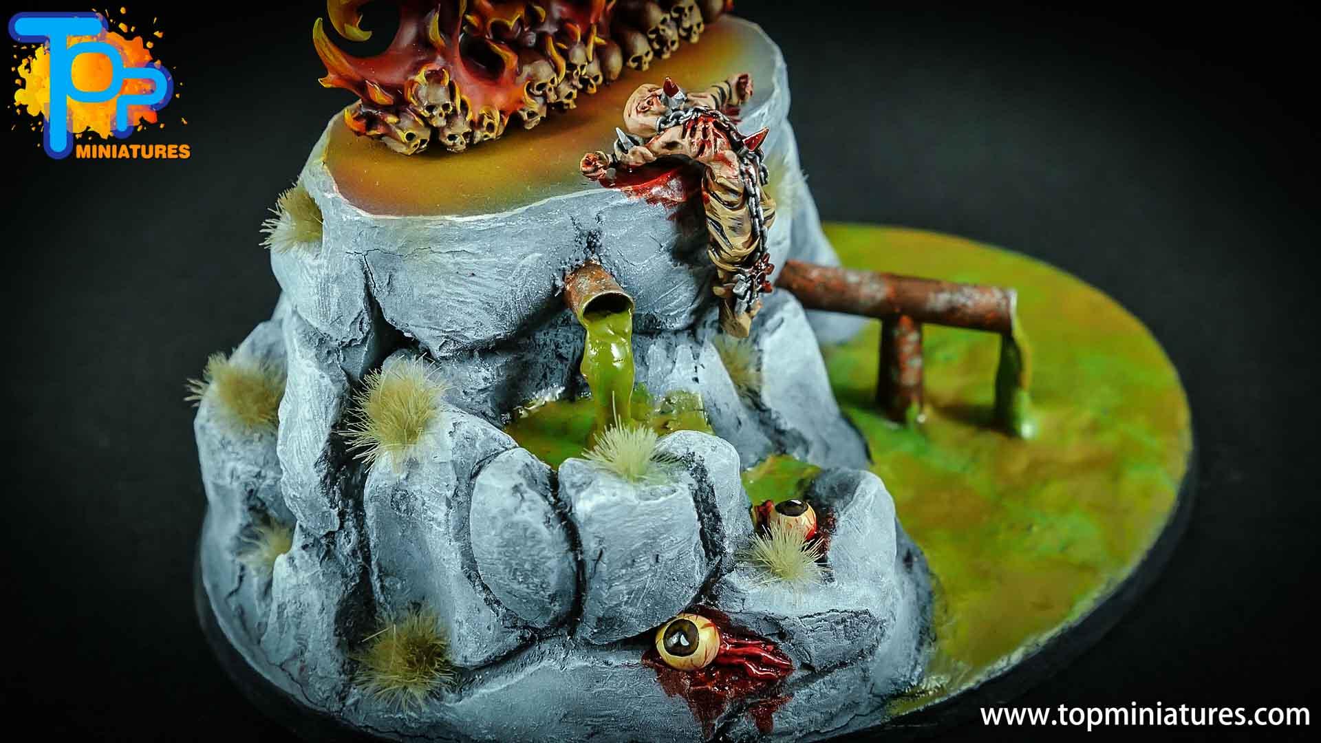chaos daemons custom sculpted base (1)