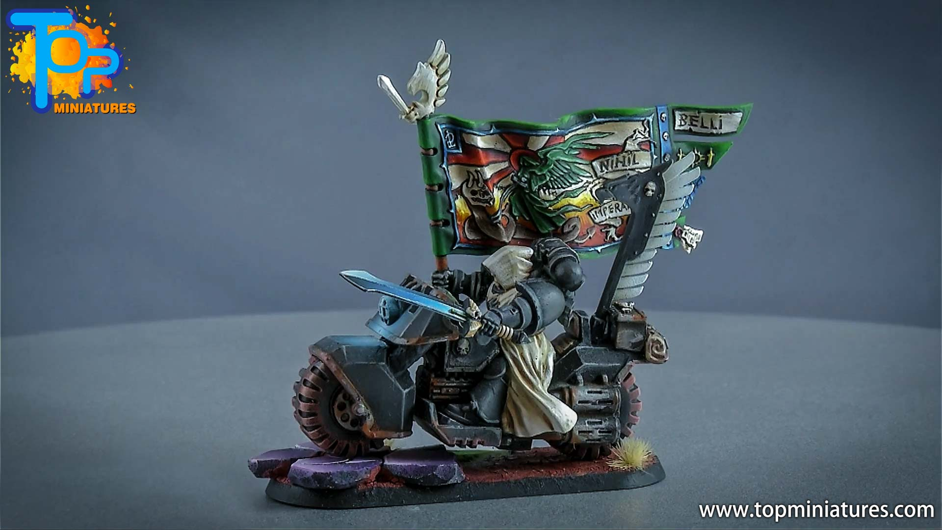 dark angels ravenwing command bike (3)